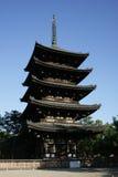 Pagoda giapponese a Nara Fotografia Stock