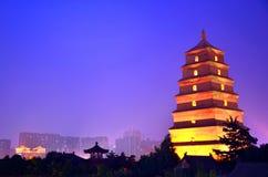 Pagoda gigante dell'oca selvatica Fotografie Stock