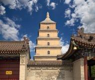 Pagoda gigante dell'oca selvatica, provincia di Xian (Sian, Xi'an), Shaanxi, Cina Fotografie Stock Libere da Diritti