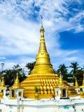 Pagoda. Gold pagoda at Kohkred , Nonthaburi ,Thailand Royalty Free Stock Image