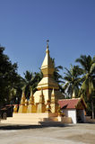 Pagoda Gold Outdoor Rural Laos Local Stock Photography
