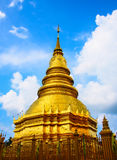 Pagoda. Golden pagoda and blue sky Royalty Free Stock Image
