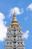 Pagoda. Golden pagoda and blue sky Stock Photo