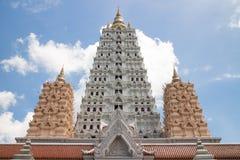 Pagoda. Golden pagoda and blue sky Stock Image