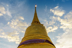 Pagoda in Golden mountain temple called Chedi Phukhao Thong Stock Photos