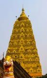 The pagoda golden. In thailand Stock Photos
