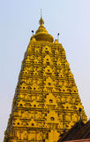 The pagoda golden. In thailand Stock Image