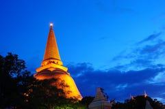 Pagoda grande Nakornpathom Foto de archivo