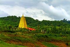Pagoda and green tree Stock Photo