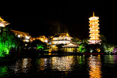 Night scene Guilin, China Royalty Free Stock Images