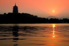 Pagoda Hangzhou Fotografie Stock