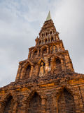 Pagoda Haripunchai del ladrillo. fotografía de archivo libre de regalías