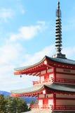 Pagoda hermosa de Shureito en parque Imágenes de archivo libres de regalías