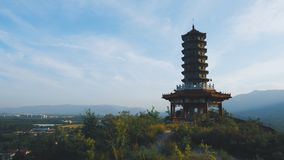 Pagoda on hill top Royalty Free Stock Photography