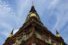 Pagoda historic. In temple thailand Stock Photo