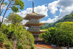 Pagoda, Honolulu Memorial Park. Sanju Pagoda is modeled after the Hokke-ji Temple, in in Nara, Japan. It is listed in the National Register of Historic Places Stock Photos