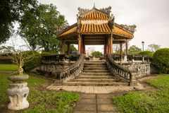 Pagoda in Hue Imperial City stock photo