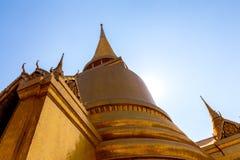Pagoda. Huge golden stupa at Wat Phra Kaew in Thailand Stock Image