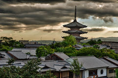 Pagoda i Kyoto Royaltyfri Fotografi