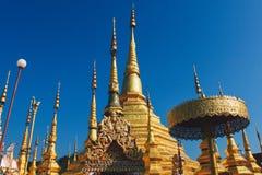 Pagoda i zwolennicy Zdjęcie Royalty Free