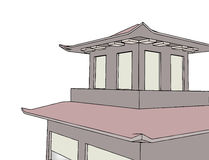 Pagoda illustration Stock Photos