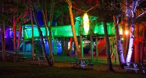 Pagoda iluminada en la noche Imagen de archivo libre de regalías