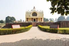 Pagoda imitating buddha nirvana place Royalty Free Stock Image