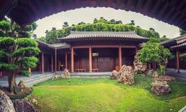 Pagoda inside Hong Kong Nan lian garden. Hong Kong Nan lian garden summer 2015 Stock Photo