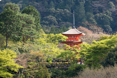 Pagoda inside the kiyomizu temple Stock Photos