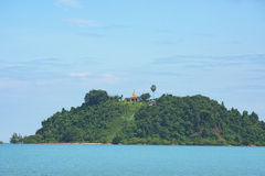 Pagoda on island near Myeik in Myanmar Stock Images