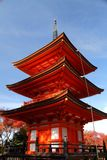 Pagoda in Japan. Kyoto, Japan - pagoda of Kiyomizu-dera Temple in autumn stock photography