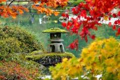 Pagoda in Japanese garden. A small pagoda near a pond in a Japanese garden Royalty Free Stock Photos