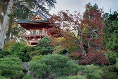 Pagoda at Japanese Garden Stock Images