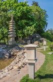 Pagoda in Japanese style park in Kiev in honour of sister city o Stock Images