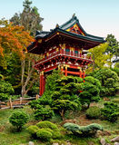 Pagoda in the Japanese Tea Garden. In Golden Gate Park, San Francisco Stock Images