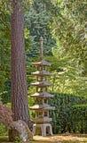 Pagoda japonaise au jardin de Japonais de Portland Photo stock