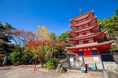 Pagoda japonesa de Chureito del nombre del templo, Kawafugiko, Japón Imagen de archivo libre de regalías