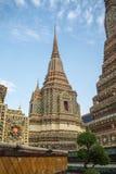 Pagoda jest w Wacie Pho który wymieniał jako świątynia pagoda Fotografia Royalty Free