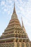 Pagoda jest w Wacie Pho który wymieniał jako świątynia pagoda Obraz Royalty Free