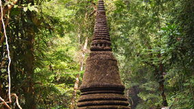 Pagoda in the jungle Stock Photography