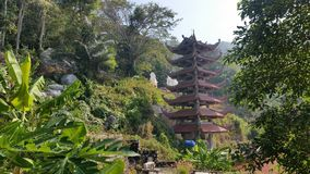 Pagoda in the jungle Stock Photo
