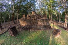 pagoda in Kamphaeng Phet Historical Park Stock Photo