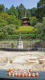 Pagoda of Katsuoji temple in Japan Royalty Free Stock Photo