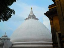 Pagoda at Kelaniya Buddhist temple royalty free stock photos