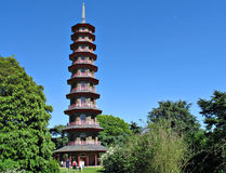Pagoda at Kew Garden. The ornamental, octaonal pagoda at Kew Garden in London, England. Completed in 1762 Royalty Free Stock Images