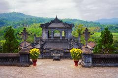 Pagoda in Khai Dinh Tomb in Hue Vietnam. Pagoda in Khai Dinh Tomb in Hue, Vietnam royalty free stock images