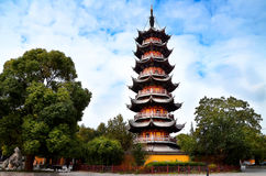Pagoda. Is a kind of eastern style tower stock photography