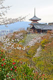 Pagoda in Kiyomizu dera Temple, Japan. Stock Photography