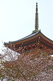 The Pagoda at Kiyomizu-dera temple, Japan. Royalty Free Stock Photography