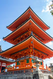 Pagoda at kiyomizu-dera Temple in Kyoto, Japan Stock Photo